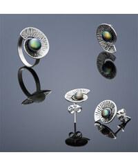 Buka Jewelry Buka perlový set Nautilus (náušnice, přívěsek a prsten) – mix 869