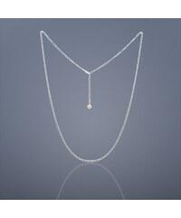 Buka Jewelry Buka Stříbrný řetízek s růžovou perlou - 781