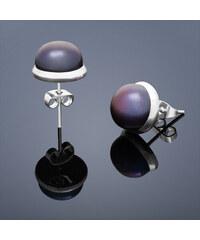Buka Jewelry Buka Vpichovací náušnice s perlou Buka malé – černá 202