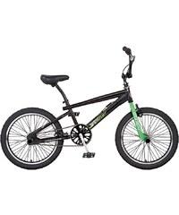 REX BIKE BMX Fahrrad, 20 Zoll, schwarz, Gabel neongrün, REX
