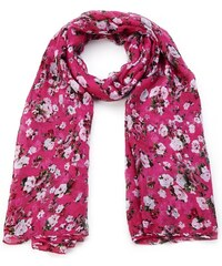 Šátek s drobnými kvítky INTRIGUE pink
