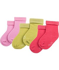 maximo Baby - Mädchen Socken Babysocke Mit Umschlagrand, 3Er Pack, Uni, Baby - Mädchen, Einfarbig