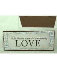 La Finesse Plechová cedule LOVE 2