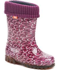 ARNO dětská nepromokavá obuv 0038 fialové holínky