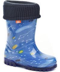 ARNO dětská nepromokavá obuv 0039 modré holínky