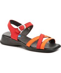 Dětská obuv DKM - Romika dívčí sandálky NUBUK 434 oranžová