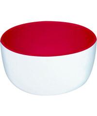 ZAK! designs - 2-barevné misky na zmrzlinu 12 cm - bílá/červená (1647-8240)