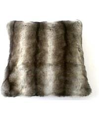 KERSTEN - Polštář RACOON umělá kožešina, hnědá, 45x45cm (XET-0125)