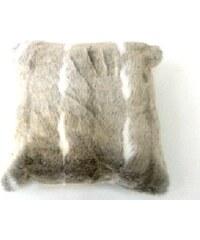 KERSTEN - Polštář FOX umělá kožešina, hnědá, 45x45cm (XET-0145)