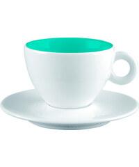 ZAK! designs - 2-barevný espresso šálek s podšálkem-bílá/modrá - melamin, 10 cl (2002-M870)