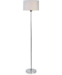 Andrea house - Lampa stojací, bílý širm, chrom 35x35x160cm (IL14035)