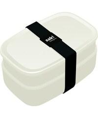 ZAK! designs - Krabička na jídlo s příborem bílá, 18x11x6,5 a 18x11x10 cm (1358-840)