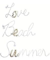 Bastion collections - Nápis Love, Beach, Summer - kovové s mušlemi (3 druhyx4), cena za ks (MM-LETTE