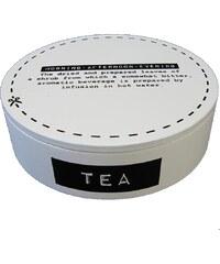 KERSTEN - Krabička na čaj kulatá bílá 17x17x5cm (LEV-5277)