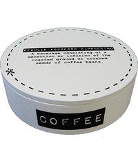 KERSTEN - Krabička na kávu kulatá bílá 17x17x5cm (LEV-5278)