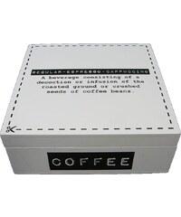 KERSTEN - Krabička na kávu hranatá bílá 18x18x7cm (LEV-5280)