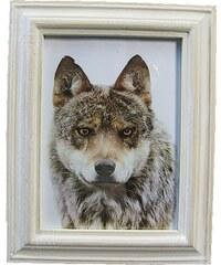 KERSTEN - Fotorámeček bílý, dřevo, patina 13x18cm (LEV-6046)