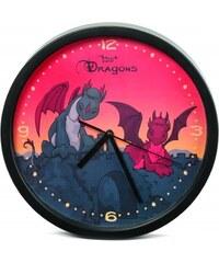 NICI - Nástěnné hodiny draci (34130)