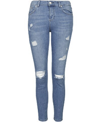 Topshop PETITE MOTO Bleach Authentic Ripped Skinny Jeans