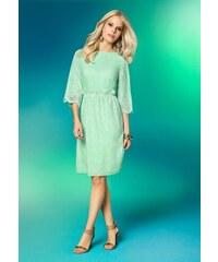 APART romantické šaty s děrovanou výšivkou 40 mint Dopravné zdarma!