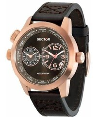 SECTOR WATCHES Hodinky SECTOR NO LIMITS Action Oversize, Dual Time Rose Gold PVD R3251102022