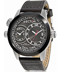 SECTOR WATCHES Hodinky SECTOR NO LIMITS Action Oversize, Dual Time Black PVD R3251102125