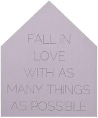 Bloomingville Dřevěná cedule Fall in love
