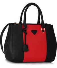L&S Fashion (Anglie) Kabelka LS00118 černočervená