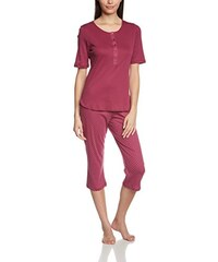 Huber Damen Zweiteiliger Schlafanzug Da. Pyjama 3/4