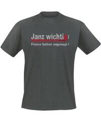 Mario Barth Herren T-Shirt Janz wichtig: Fresse halten angesagt!