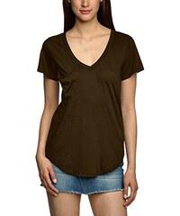 Bobi Damen T-Shirt 525-07062 V-Neck Boyfriend Pocket Tee