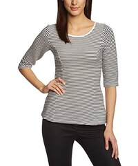 TOM TAILOR Denim Damen T-Shirt fitted peplum shirt w stripes/501