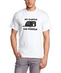Shirtzshop Herren T-Shirt Original Wohnanhänger My Castle Has Wheels