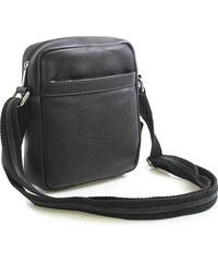 Enrico Benetti Černá luxusní kožená taška IG711 černá