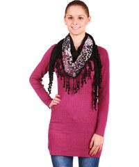 TopMode Stylový, hřejivý šátek černá