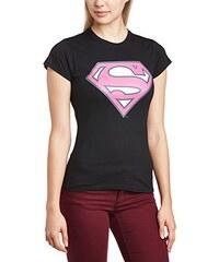 DC Universe DC Comics Damen T-Shirt Colour Logo 5, Einfarbig