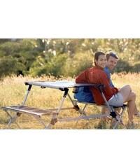 Cestovní skládací stůl s lavicemi Portable outdoor table blue