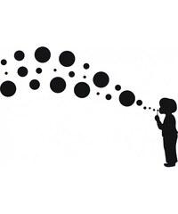 Samolepící dekorace Kluk s bublinami