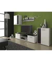 Obývací stěna Zuzana černá-bílá
