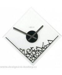Designové nástěnné hodiny 2039 Nextime Dropped Numerals 35x35cm
