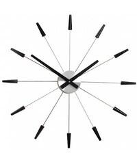Designové nástěnné hodiny 2610zw Nextime Plug Inn černé 60cm