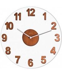 Designové nástěnné hodiny 2974br Nextime Woody brown 39cm