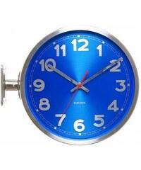 Designové oboustranné nástěnné hodiny 5503BL Karlsson 31cm