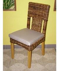 Jídelní židle Sardinia-banánový list-borovice