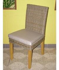 Ratanová jídelní židle Seattle-borovice