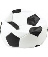 Sedací vak Euroball Medium bílo-černý