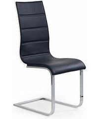 Jídelní židle K104 černo-bílá