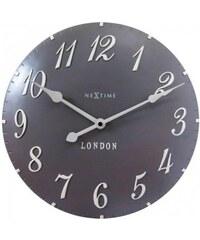 Designové nástěnné hodiny 3084gs Nextime v anglickém retro stylu 35cm