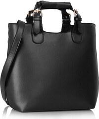 LS Fashion Černá kabelka L&S fashion LS00267 černá