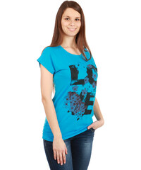 TopMode Moderní pohodlné tričko s potiskem světle modrá